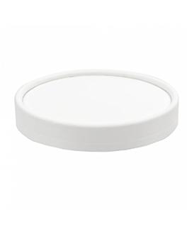 couvercles pots À glaces 300 ml 280 + 18 pe g/m2 Ø10 cm blanc carton (1000 unitÉ)