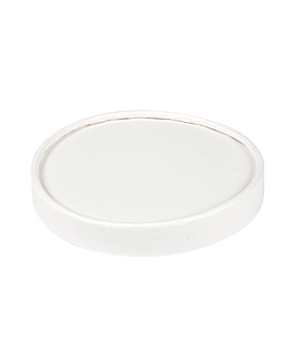 lids for ice-cream tubs 300 ml 280 + 18 pe gsm Ø10 cm white cardboard (1000 unit)