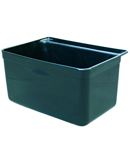 small bucket for service trolley 33,5x23,5x18 cm black pp (1 unit)