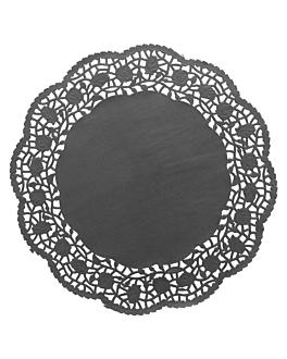 dentelles rondes ajourÉes 40 g/m2 Ø 27 cm noir papier (250 unitÉ)