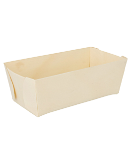 rectangular containers 14x7,5x5 cm natural wood (200 unit)