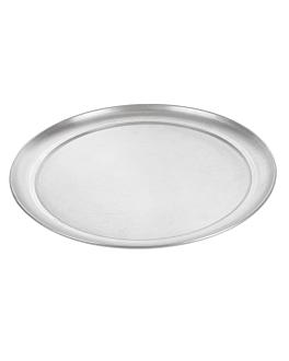 assiette À pizza plate Ø 28 cm argente aluminium (1 unitÉ)