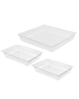 3 microwaveable plates for item 209.51  clear pp (100 unit)