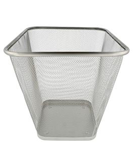 mesh paper bin 12 l 27x27x29,7 cm silver steel (12 unit)