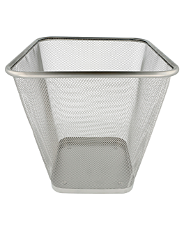 papierkorb mesh 12 l 27x27x29,7 cm silberfarben stahl (12 einheit)