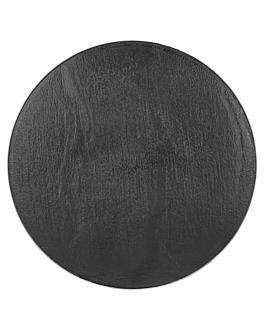 mini assiettes imitation ardoise Ø12,8x1,3 cm noir ps (288 unitÉ)