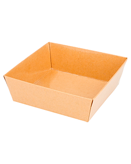 containers 250 + 12,5 pe gsm 10,5x10,5x3,5 cm natural kraft (1000 unit)