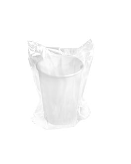 vasos enfundados 240 ml 280 + 18 pe g/m2 Ø8/5,6x9,2 cm blanco cartoncillo (1000 unid.)