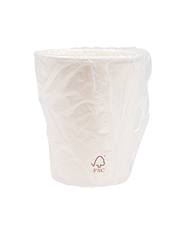 cups wrapped 240 ml 280 + 18 pe gsm Ø8/5,6x9,2 cm white cardboard (1000 unit)