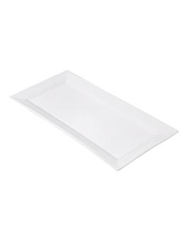 platos rectangulares 36,2x17,8 cm blanco porcelana (12 unid.)