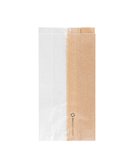 sandwich bags with eco window 'corner window' 40 gsm 12+6x23 cm natural kraft (250 unit)