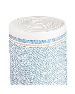 mantel 'like linen - azur' 70 g/m2 1,20x25 m blanco/azul spunlace (1 unid.)