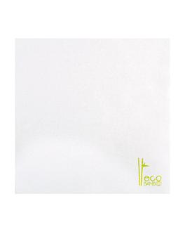 napkins 'eco-bamboo' 70 gsm 40x40 cm white bamboo (600 unit)