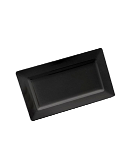 rectangular trays 35,8x20,3x4 cm black melamine (6 unit)