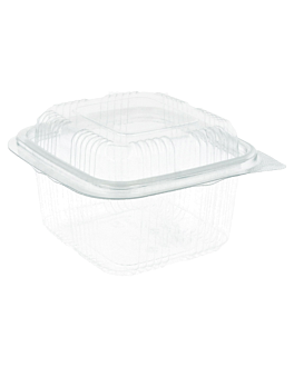 confectionery containers + lid 375 ml 13,3x12x7,7 cm clear rpet (700 unit)