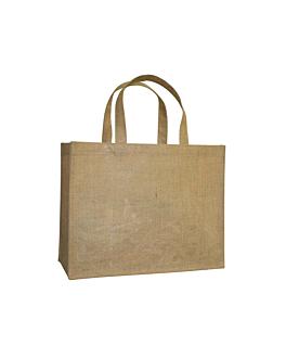 beutel ohne dekoration mit griffen 260 g/m2 38,5+18x30,5 cm natur jute (10 einheit)