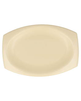 bandeja oval em foam 23x18 cm amÊndoa pse (500 unidade)