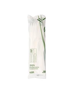 sachets couverts 4/1 18 cm blanc cpla (500 unitÉ)