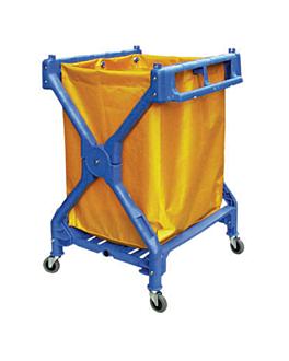 carro plegable para lavanderÍa 70x66x93,3 cm azul plÁstico (1 unid.)