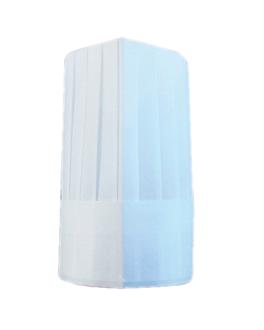 gorros ajustables clÁsicos 26 cm blanco airlaid (10 unid.)