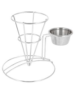 basket avec rÉcipient 8,3x12,7 cm argente inox (12 unitÉ)