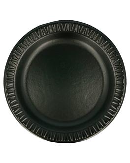 prato em foam laminado com p.e. Ø 18 cm preto pse (1000 unidade)
