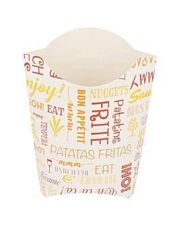 scatoline per fritti jumbo 'parole' 165 g 250 g/m2 13,5x8,5x16 cm bianco cartone (1200 unitÀ)