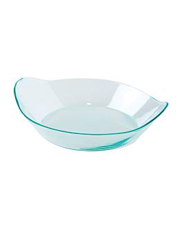"""recipientes aperitivos """"elÍptico"""" 8x2 cm verde agua ps (1000 unid.)"""