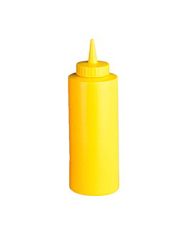squeeze dispensers 360 ml Ø 6x18,2 cm yellow pehd (6 unit)