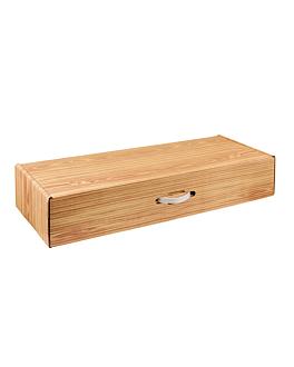 10 u. cajas jamonero 576 g/m2 89x31,3x16 cm madera cartÓn (1 unid.)