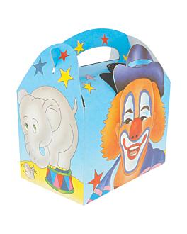 """boÎtes menu enfant """"cirque"""" 320 g/m2 17x16x10 cm quadrichromie carton (300 unitÉ)"""