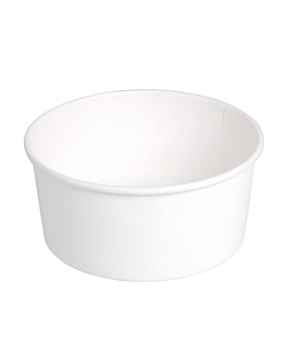 salad bowls 750 ml 320 + 18 pe gsm Ø 14,5/12,5x7 cm white cardboard (500 unit)
