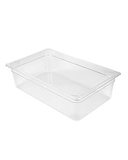 gastronorm pan 1/1 19,1 l 53x32,5x15 cm clear polycarbonate (1 unit)