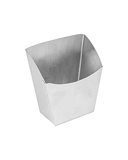 fry boxes l 12x6,6x14,2 cm silver stainless steel (12 unit)