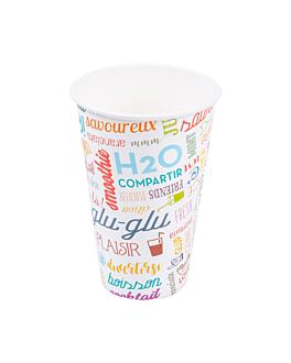 bicchiere 'parole' 12 oz - 360 ml 265 + 18pe g/m2 Ø8x12 cm bianco cartone (2000 unitÀ)