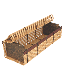 sushi boxes 23x8x6 cm natural bamboo (24 unit)