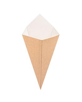 coni per fritti 'thepack' 250 g 220 g/m2 15,7x26,8 cm naturale cartone ondulato a nano-micro (1200 unitÀ)