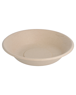 deep plates 'bionic' 680 ml Ø 19x4 cm natural bagasse (1000 unit)