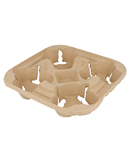 cup carrier, 4 cups 22x22 cm natural cardboard (300 unit)