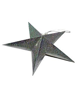 estrellas colgantes Ø 45 cm plateado papel (10 unid.)