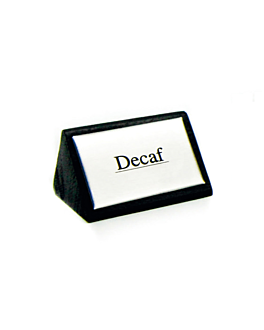 """identificadores """"decaf"""" 7,5x4,5 cm preto madeira (12 unidade)"""