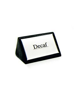 "identificadores ""decaf"" 7,5x4,5 cm negro madera (12 unid.)"
