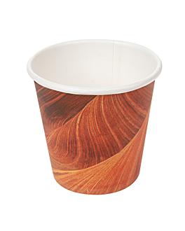 bicchieri bevande calde 1 parete espresso 'arizona' 70 ml 230 + 18 pe g/m2 Ø5/3,5x4,9 cm marrone cartone (1000 unitÀ)