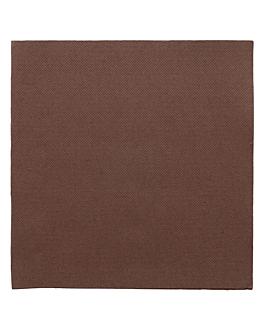 ecolabel napkins 'double point' 18 gsm 39x39 cm chocolate tissue (1200 unit)