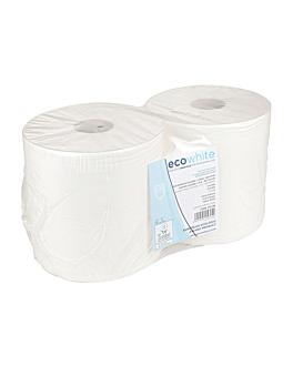 roller towel ecolabel 2 ply - 900 sheets 19 gsm Ø26x26 cm white tissue (2 unit)