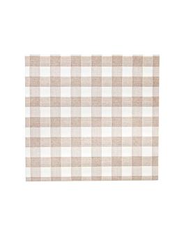 serviettes 'like linen - vichy' 70 g/m2 40x40 cm taupe spunlace (600 unitÉ)