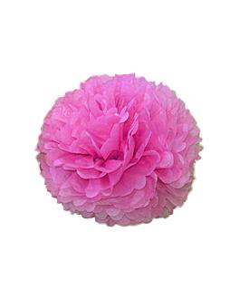 pom pom flower Ø 35 cm fucsia (10 unid.)