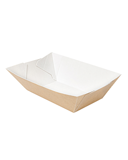 containers 'thepack' 240 g 220 gsm 8,5x5x4 cm natural nano-micro corrugated cardboard (1800 unit)
