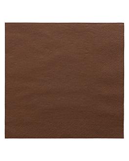 serviettes ecolabel 2 plis 18 g/m2 39x39 cm chocolat ouate (1600 unitÉ)