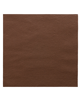 napkins ecolabel 2 ply 18 gsm 39x39 cm chocolate tissue (1600 unit)
